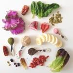 @julieskitchen Smoothie life--Sunwarrior raw protein, Amazing Grass green superfood, chia, goji, pomegranate powder, banana, strawberries, blueberries, dates, spinach, kale, romaine, pepitas. #vitamix #greensmoothie