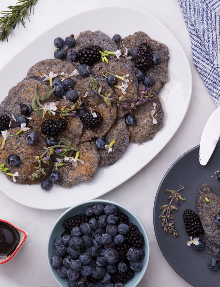 Julie's Kitchen//Blue Corn Pancakes
