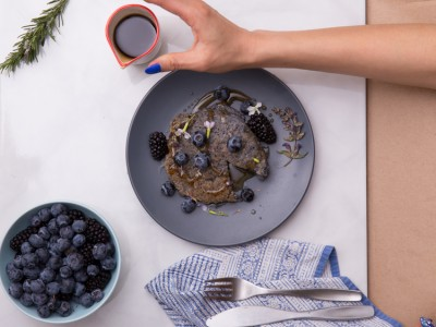 1289Recipe: Vegan Blue Corn and Chia Seed Pancakes