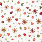 Strawberry and Rhubarb Food Collage @Julieskitchen