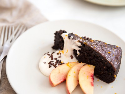 1489Recipe: Chocolate Zucchini Cake with Chocolate Glaze, Cacao Nibs and Orange Zest