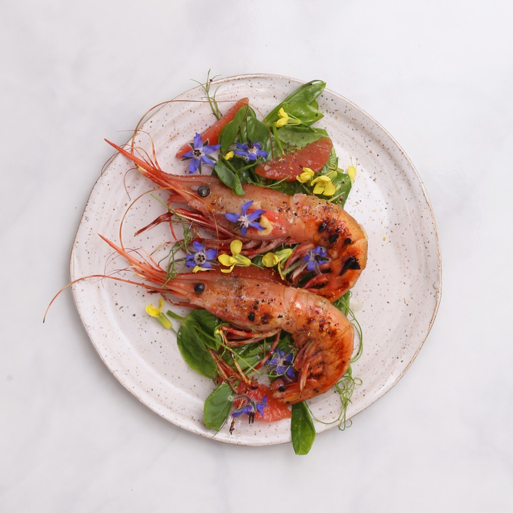 Recipe for Grilled Spot Prawns from Julie's Kitchen www.julieskitchen.me