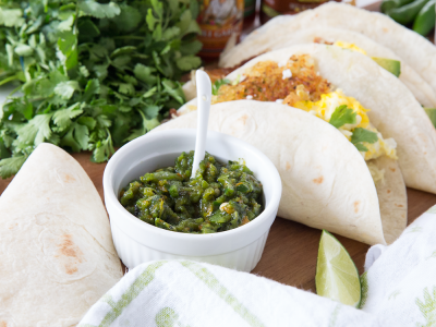 1846Recipe: Breakfast Tacos with Green Chile Sauce Inspired by New Mexico