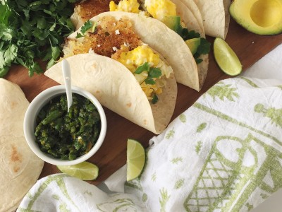 1846Recipe: Breakfast Tacos with Green Chile SauceInspired by New Mexico