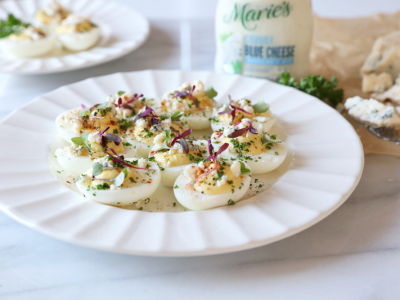 2055Recipe: Blue Cheese Deviled Eggs