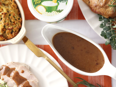 2062Recipe: Herb Roasted Turkey with French Onion Gravy