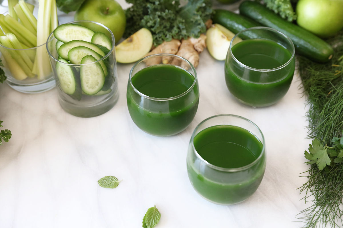 Julie's Kitchen's Holiday Detox Green Juice