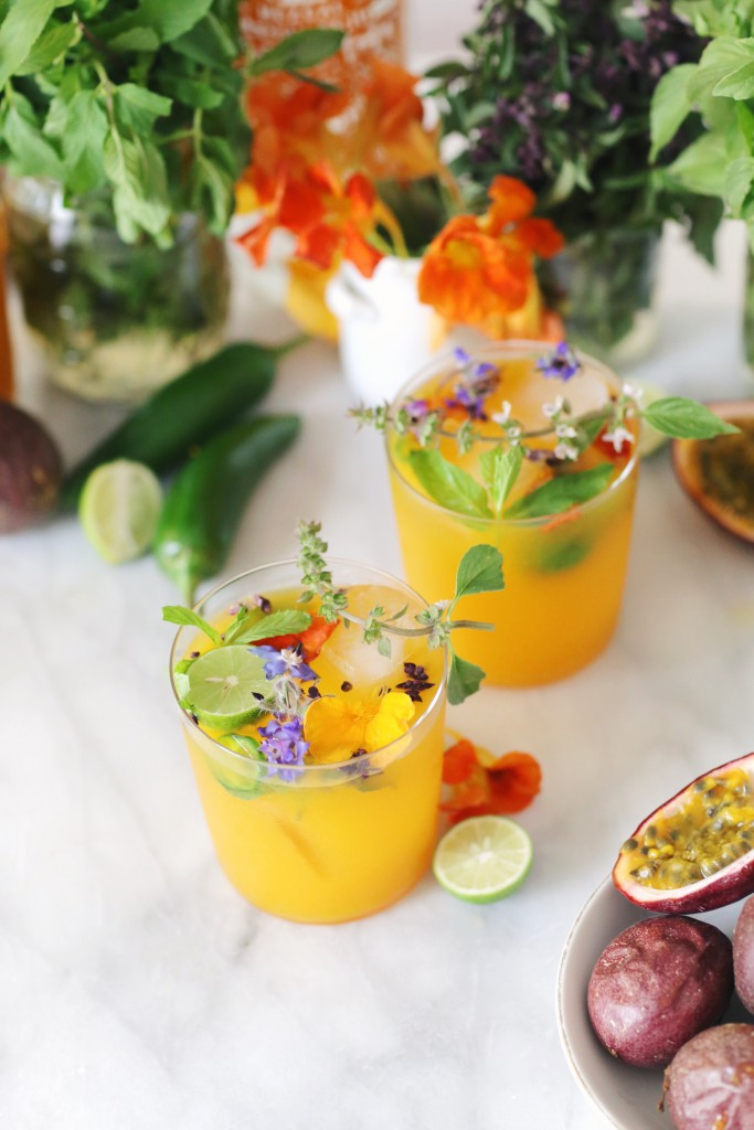 Passion Fruit Mezcal Cocktails