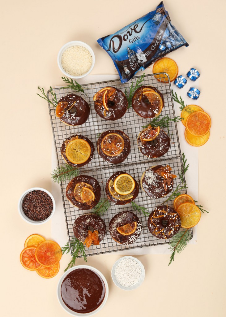 @julieskitchen Baked Donuts with Chocolate Glaze and Candied Citrus